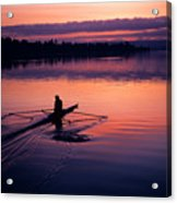 Man Rowing On Montlake Cut Acrylic Print