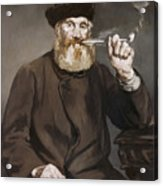 Man Smoking A Pipe Acrylic Print