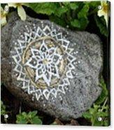 Mandala Stone  Acrylic Print