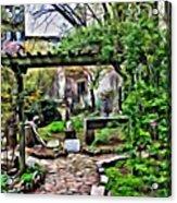 Manhattan Community Garden Acrylic Print