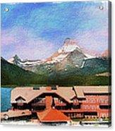 Many Glacier Hotel Panorama Acrylic Print