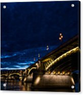 Margaret  Bridge In Budapest Acrylic Print