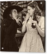 Margaret Hamilton And Judy Garland In The Wizard Of Oz 1939 Acrylic Print