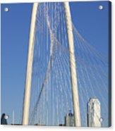Margaret Hunt Hill Bridge In Dallas - Texas Acrylic Print