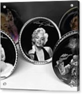 Marilyn And Elvis Acrylic Print by Daniel Hagerman