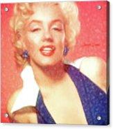 Marilyn Monroe - Pencil Style Acrylic Print