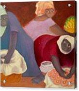 Market Women Acrylic Print