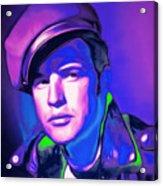 Marlon Brando The Wild One 20160116 Square V2 Acrylic Print