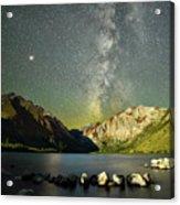 Mars And The Milky Way Acrylic Print