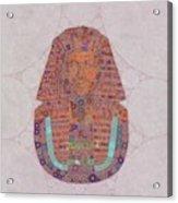 Mask Of Tutankhamun, Pop Art By Mb Acrylic Print