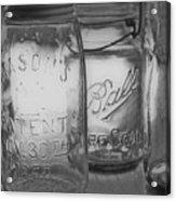 Mason Jar 1858  Acrylic Print
