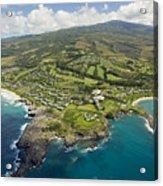 Maui Aerial Of Kapalua Acrylic Print by Ron Dahlquist - Printscapes