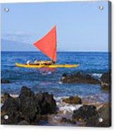 Maui Sailing Canoe Acrylic Print