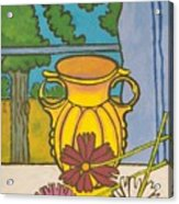 Mccoy Vase With Cosmos Acrylic Print