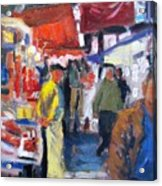 Meat Market Acrylic Print by George Siaba