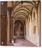 Medieval Hallway Of Italian Cloister Acrylic Print
