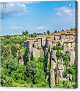 Medieval Town Of Vitorchiano In Lazio, Italy Acrylic Print