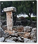 Megalithic Taula In Binisafua Menorca Bronze Age Acrylic Print