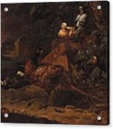 Melchior De Hondecoeter In The Manner Of The Artist, Wild Birds In A Park Landscape. Acrylic Print