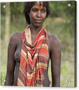 member of the Bena Tribe, Omo Valley Acrylic Print