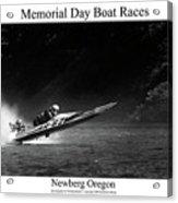 Memorial Day Boat Races Acrylic Print