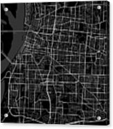 Memphis Tennessee Usa Dark Map Acrylic Print