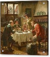 Merry Company In A Dutch Interior Acrylic Print