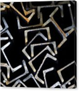 Metal Profile Channel In Packs At The Warehouse Of Metal Products Acrylic Print