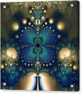 Metallic Butterfly Acrylic Print
