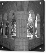 Miami Monastery In Black And White Acrylic Print