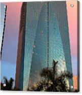 Miami Skyscraper At Sunset Acrylic Print