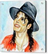 Michael Jackson - Keep The Faith Acrylic Print by Nicole Wang