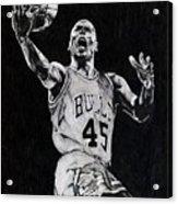 Michael Jordan Acrylic Print by Hari Mohan