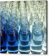 Milk Bottle Line-up Acrylic Print