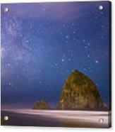 Milky Way Over Canon Beach Acrylic Print