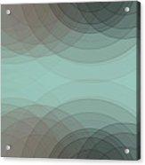 Mineral Semi Circle Background Horizontal Acrylic Print