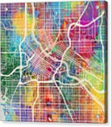 Minneapolis Minnesota City Map Acrylic Print