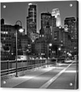 Minneapolis Skyline From Stone Arch Bridge Acrylic Print by Jon Holiday
