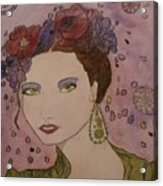 Miss Flore  Acrylic Print