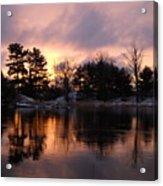 Mississippi River Dawn Light Acrylic Print