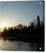 Mississippi River Sunrise Reflection Acrylic Print