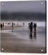Misty Beach Acrylic Print