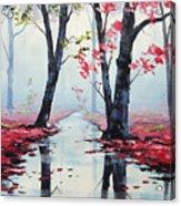 Misty Pink Acrylic Print by Graham Gercken