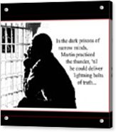 Mlk In Jail Acrylic Print