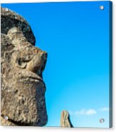Moai Closeup Acrylic Print