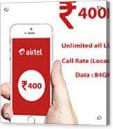 Mobile Recharge Online  Online Bill Payment  10digi Acrylic Print