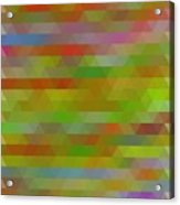 Modern Abstract Mosaic Color Combination 5 Acrylic Print
