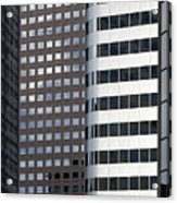 Modern High Rise Office Buildings Acrylic Print by Roberto Westbrook