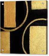 Modern Shapes Gold Acrylic Print