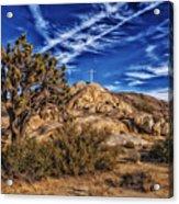 Mojave Memorial Cross And War Memorial Acrylic Print